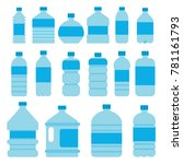 illustrations of empty plastic... | Shutterstock .eps vector #781161793
