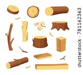 materials for wood industry.... | Shutterstock .eps vector #781162363
