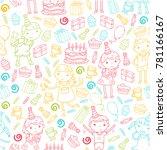 happy birthday vector design... | Shutterstock .eps vector #781166167