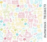 happy birthday vector design... | Shutterstock .eps vector #781166173