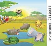cute african safari animal... | Shutterstock .eps vector #78116659