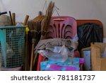 old household goods. old... | Shutterstock . vector #781181737