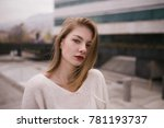 close up portrait of young... | Shutterstock . vector #781193737