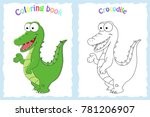 coloring book page for... | Shutterstock .eps vector #781206907