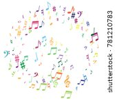 colorful flying musical notes... | Shutterstock .eps vector #781210783