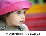 little girl with pink hat | Shutterstock . vector #78122626