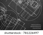 mechanical engineering drawing. ... | Shutterstock .eps vector #781226497