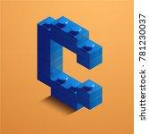 3d isometric letter c of the... | Shutterstock .eps vector #781230037