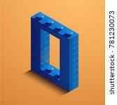 3d isometric letter o of the... | Shutterstock .eps vector #781230073