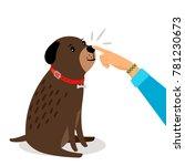 dog health test. girl hand... | Shutterstock .eps vector #781230673