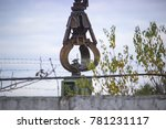 A Large Industrial Crane With...