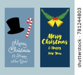 a set of christmas and new year ...   Shutterstock .eps vector #781244803