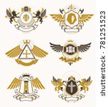 set of luxury heraldic... | Shutterstock . vector #781251523