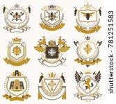 classy heraldic coat of arms.... | Shutterstock . vector #781251583