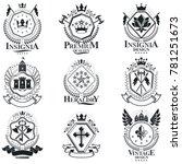 heraldic coat of arms  vintage... | Shutterstock . vector #781251673