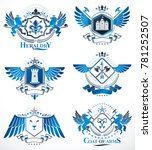set of retro vintage insignias... | Shutterstock . vector #781252507