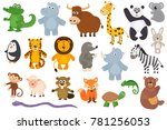 Stock vector set of isolated animals 781256053
