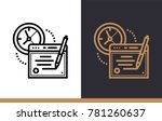 linear icon online exam. online ...   Shutterstock .eps vector #781260637