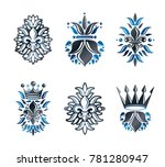 lily flowers royal symbols ... | Shutterstock . vector #781280947
