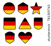 flag of germany in the shape of ... | Shutterstock .eps vector #781305763