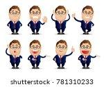 cute people   businessman set | Shutterstock .eps vector #781310233