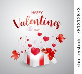 gift box valentine's day  sale... | Shutterstock .eps vector #781312873