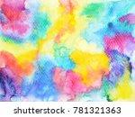 colorful rainbow watercolor... | Shutterstock . vector #781321363