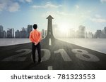 businessman standing while... | Shutterstock . vector #781323553