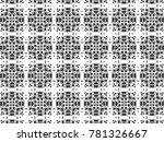 ornament with elements of black ... | Shutterstock . vector #781326667