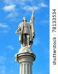 Statue of Christopher Columbus, San Juan, Puerto Rico - stock photo