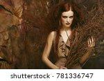 fashion portrait of romantic... | Shutterstock . vector #781336747