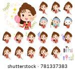 90's fashion women_beauty | Shutterstock .eps vector #781337383