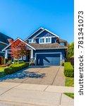 big custom made luxury house... | Shutterstock . vector #781341073