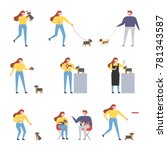 daily life with girl and... | Shutterstock .eps vector #781343587