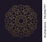 mandala flower beautiful vector ... | Shutterstock .eps vector #781346797