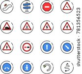line vector icon set  ... | Shutterstock .eps vector #781356523