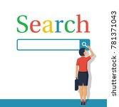 searching concept. modern... | Shutterstock .eps vector #781371043