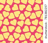 cute seamless pattern with... | Shutterstock .eps vector #781382257