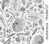 vector sketch black and white... | Shutterstock .eps vector #781386727