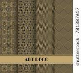 set of art deco seamless... | Shutterstock .eps vector #781387657