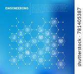 engineering concept in... | Shutterstock .eps vector #781405387
