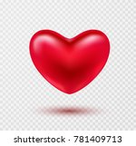 heart valentines red ballon... | Shutterstock .eps vector #781409713