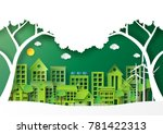nature landscape of green eco... | Shutterstock .eps vector #781422313
