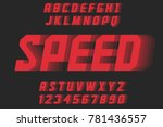 speed geometric decorative font ... | Shutterstock .eps vector #781436557