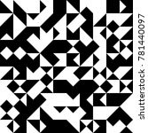 black and white  abstract... | Shutterstock .eps vector #781440097