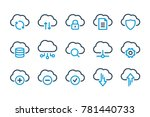 computer cloud related line... | Shutterstock .eps vector #781440733