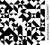 black and white  abstract... | Shutterstock .eps vector #781440997