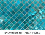 exotic shiny turquoise ceramic... | Shutterstock . vector #781444363