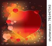 love background red heart... | Shutterstock .eps vector #781447543