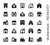 buildings solid icons 1 | Shutterstock .eps vector #781461457